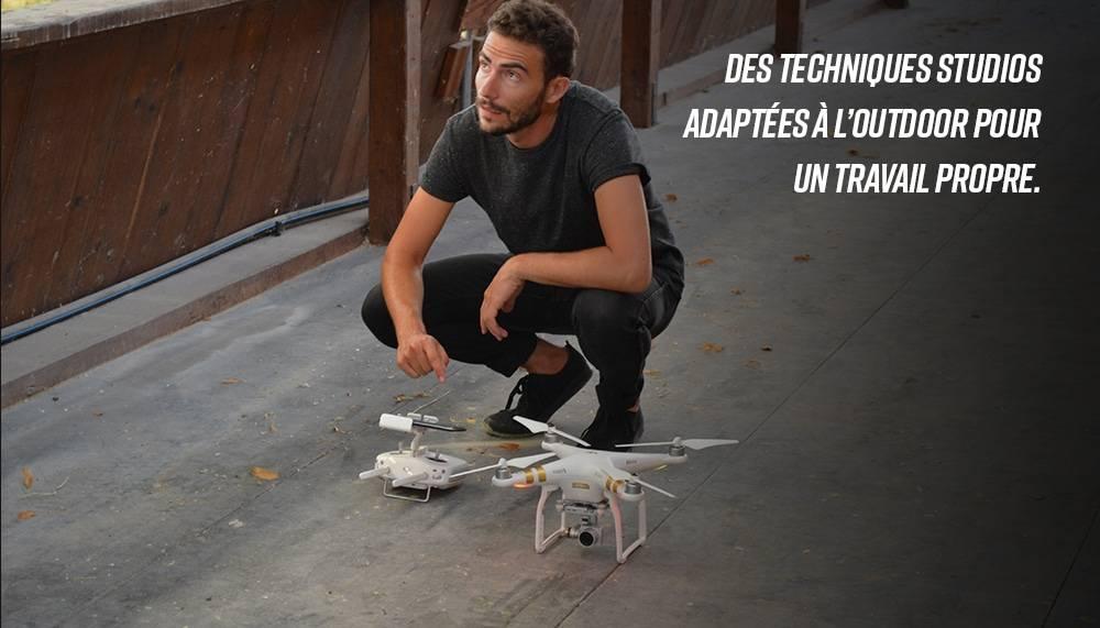 photos pilotés par drone