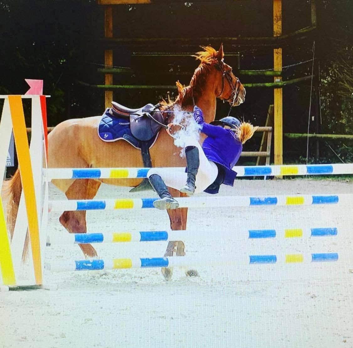 Athina Miliotis horse fall