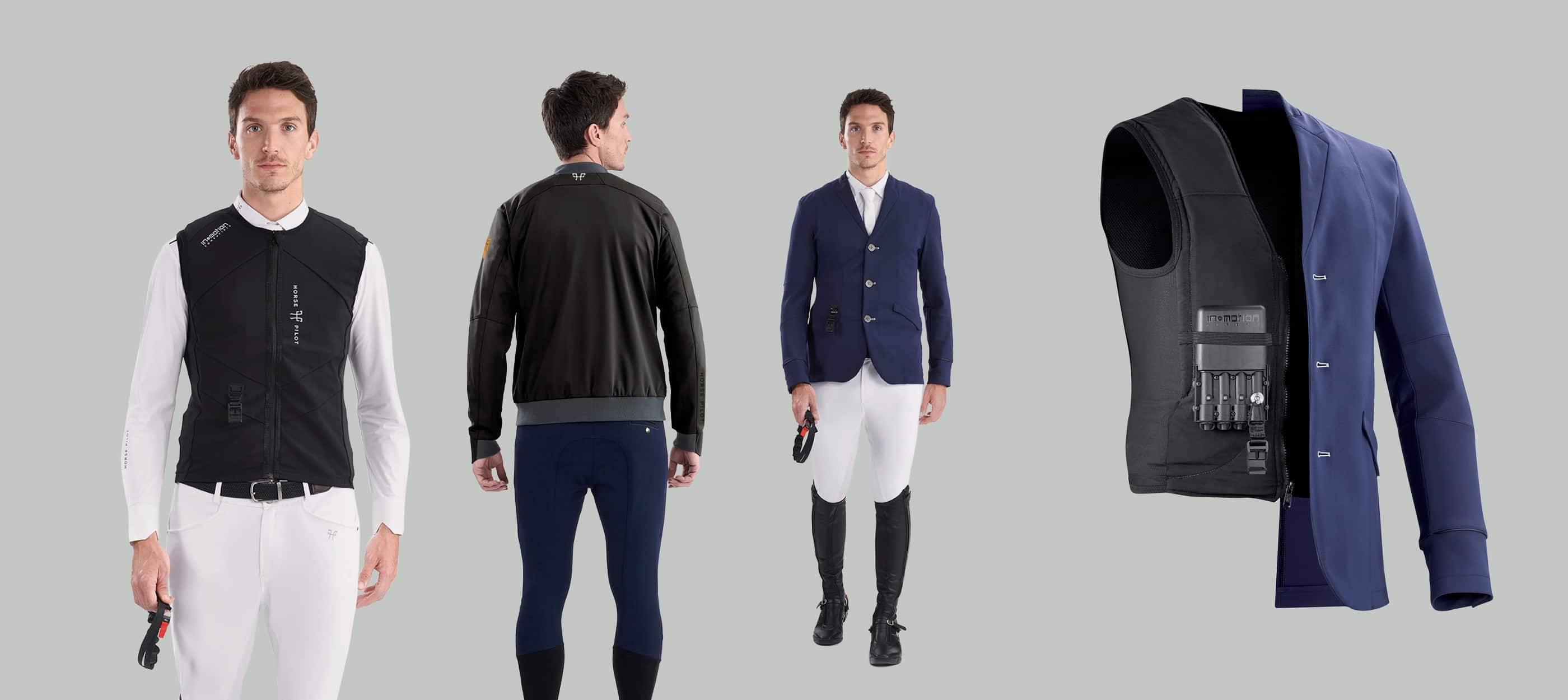 The Airbag compatible range including the AMP bomber and competition jacket for men