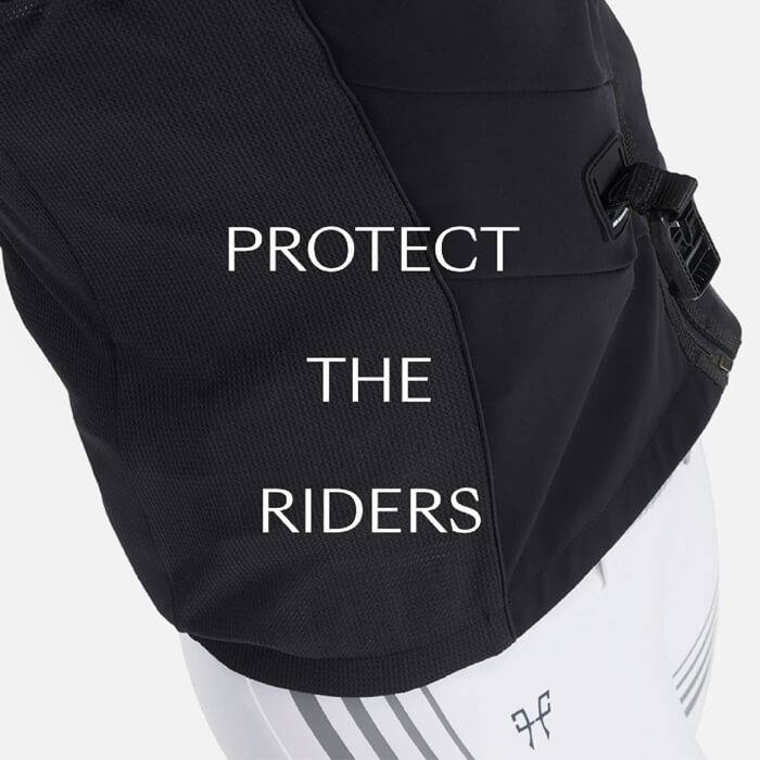 airbag protect the riders