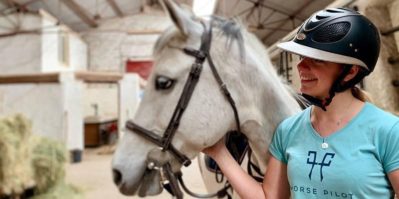 Valentine wearing the Horse Pilot Team Shirt