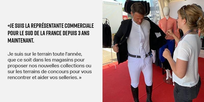 Valentine: responsable commerciale Horse Pilot pour le sud de la France